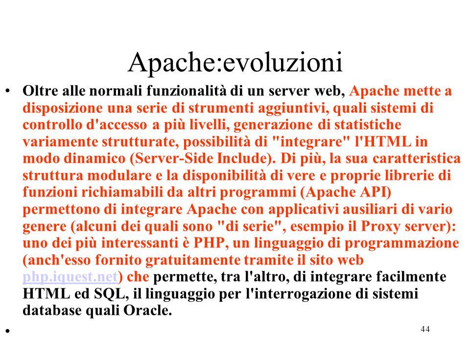 Apache:evoluzioni