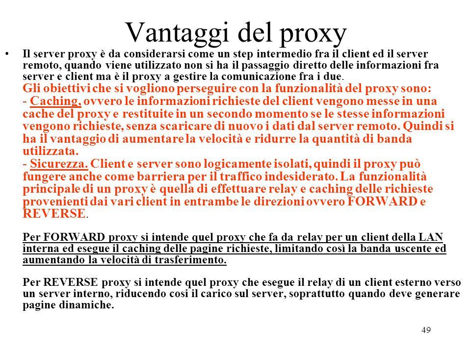Vantaggi del proxy