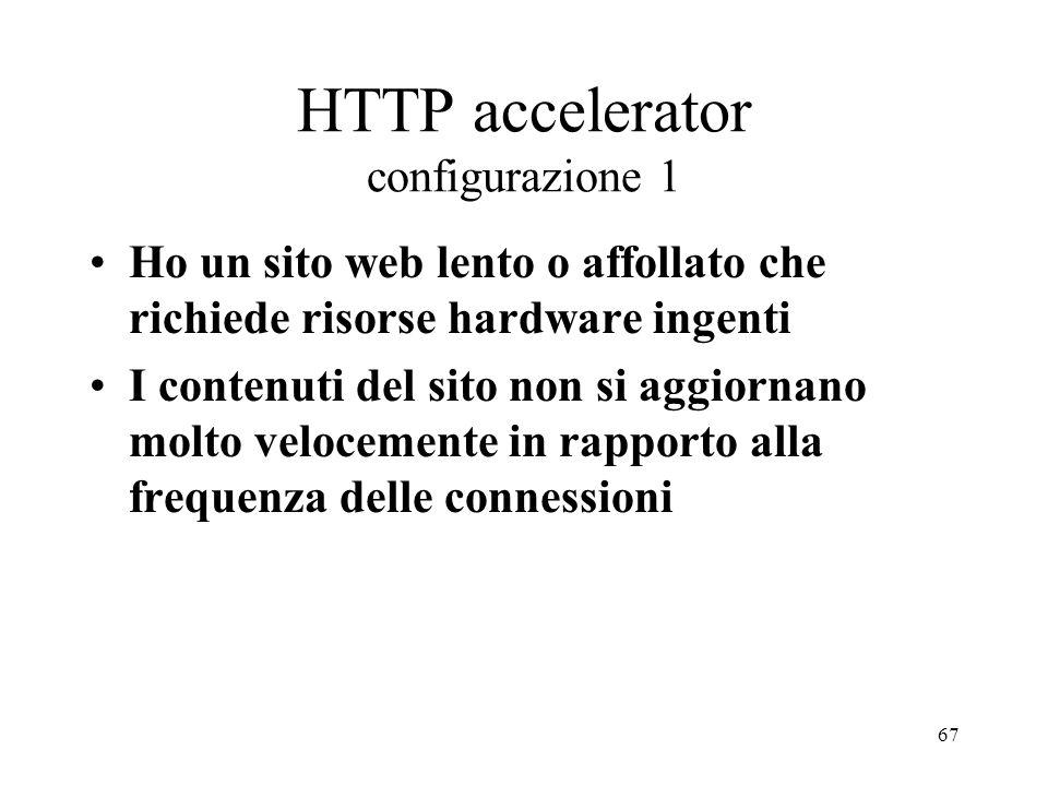HTTP accelerator configurazione 1
