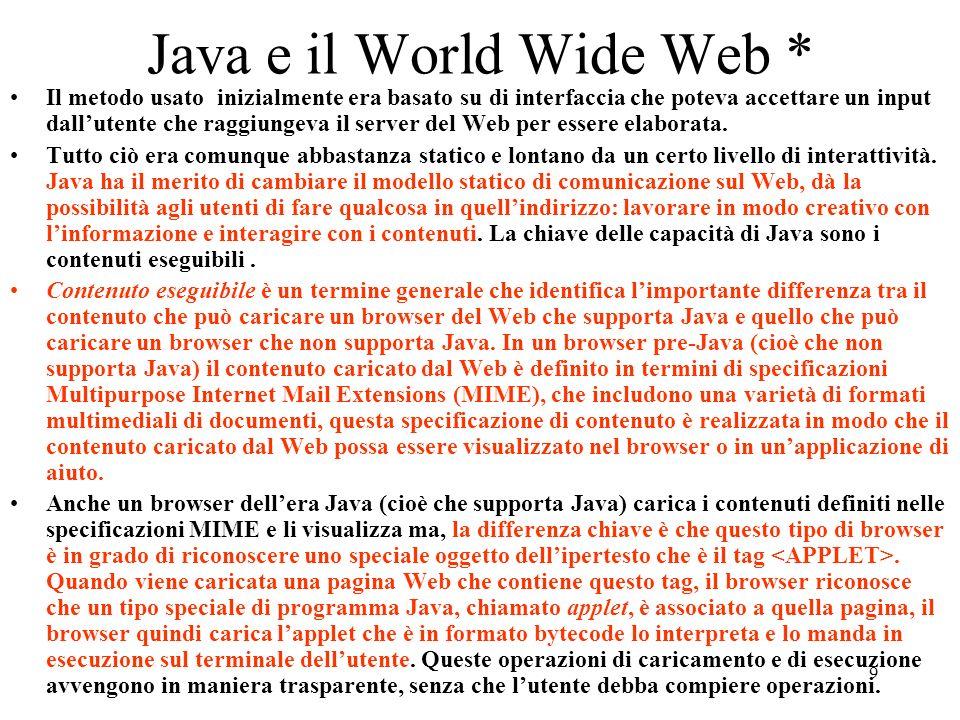 Java e il World Wide Web *