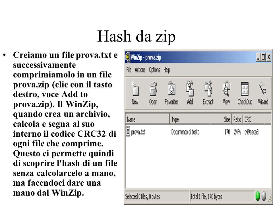 Hash da zip