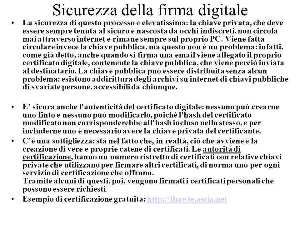 Sicurezza della firma digitale