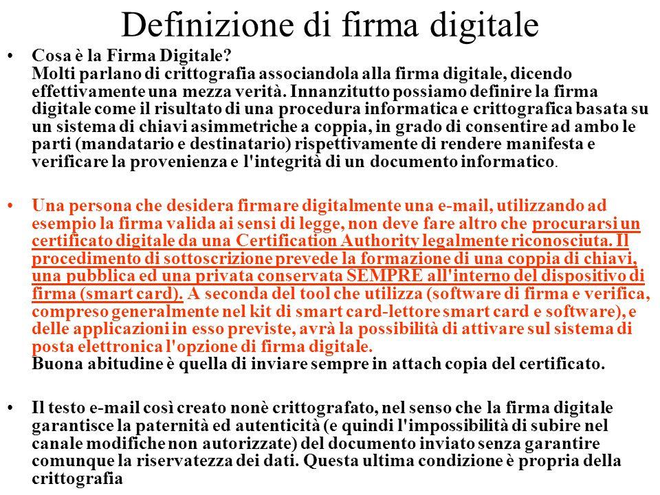 Definizione di firma digitale