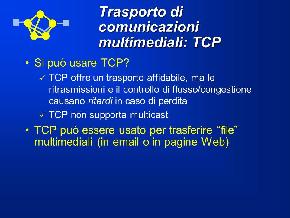 Trasporto di comunicazioni multimediali: TCP