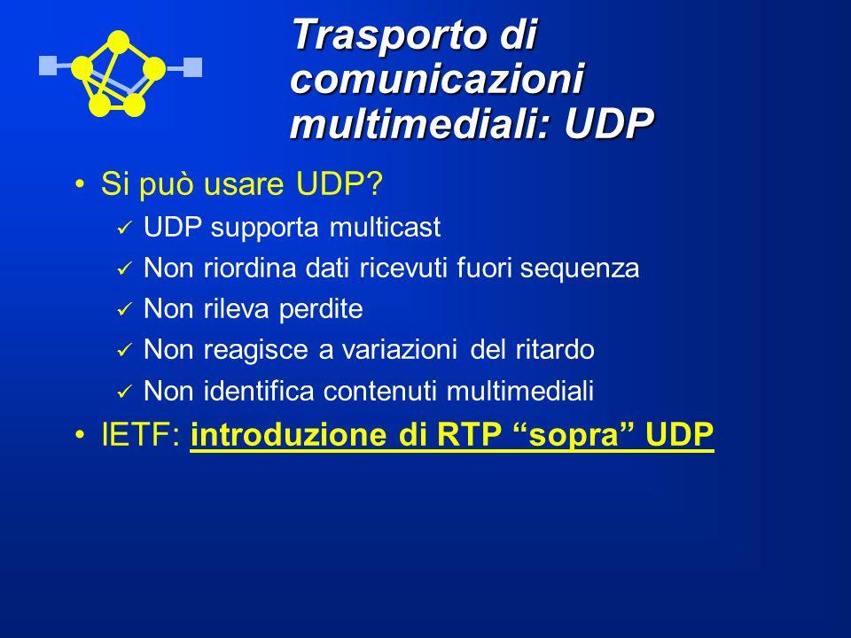 Trasporto di comunicazioni multimediali: UDP