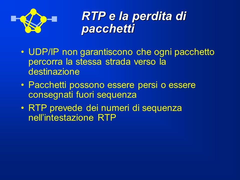 RTP e la perdita di pacchetti