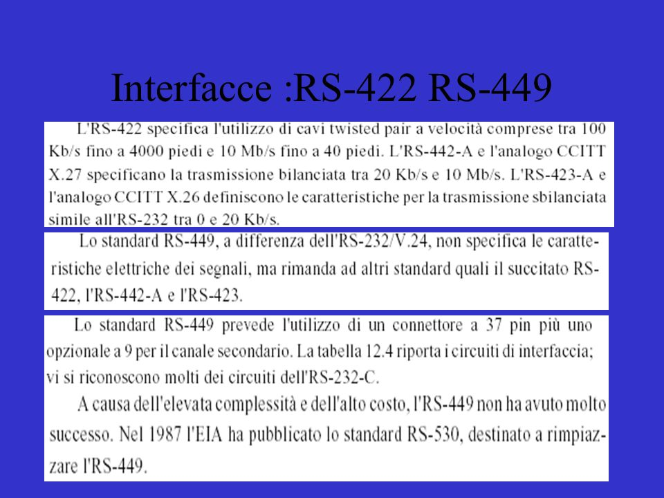 Interfacce :RS-422 RS-449