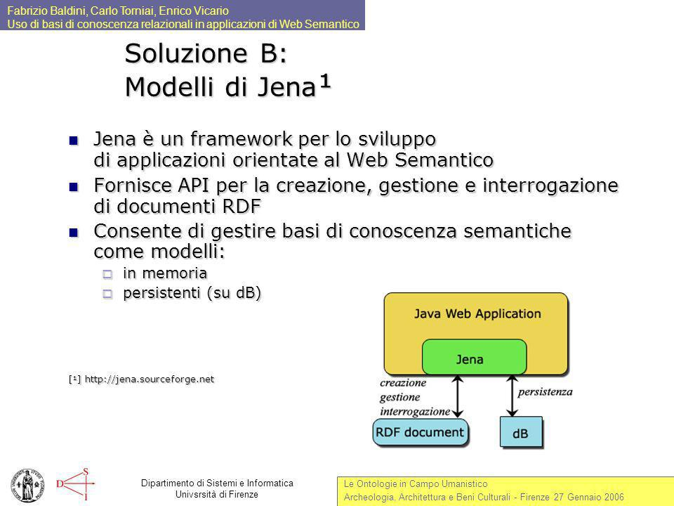 Soluzione B: Modelli di Jena¹