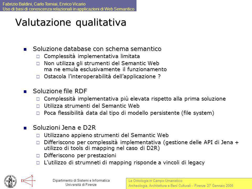 Valutazione qualitativa