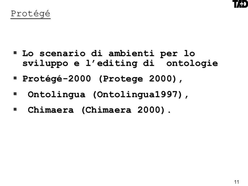 Lo scenario di ambienti per lo sviluppo e l'editing di ontologie