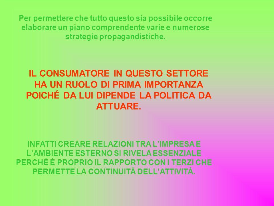 Per permettere che tutto questo sia possibile occorre elaborare un piano comprendente varie e numerose strategie propagandistiche.