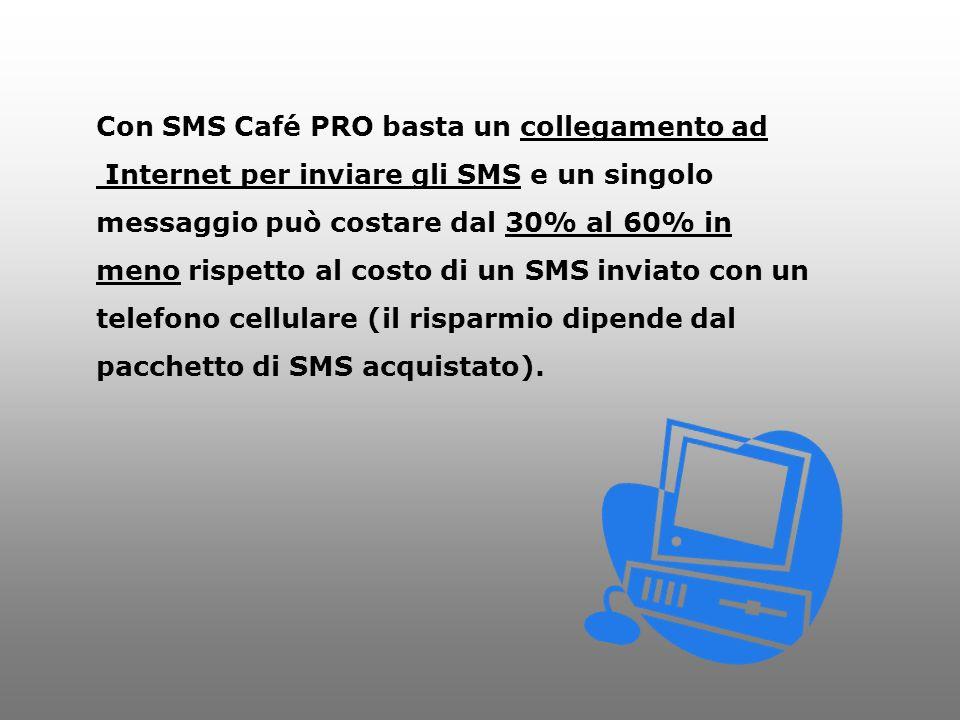 Con SMS Café PRO basta un collegamento ad