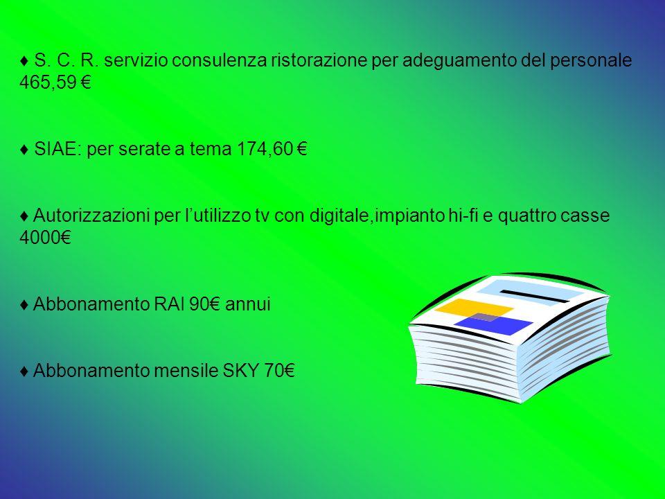 S. C. R. servizio consulenza ristorazione per adeguamento del personale 465,59 €