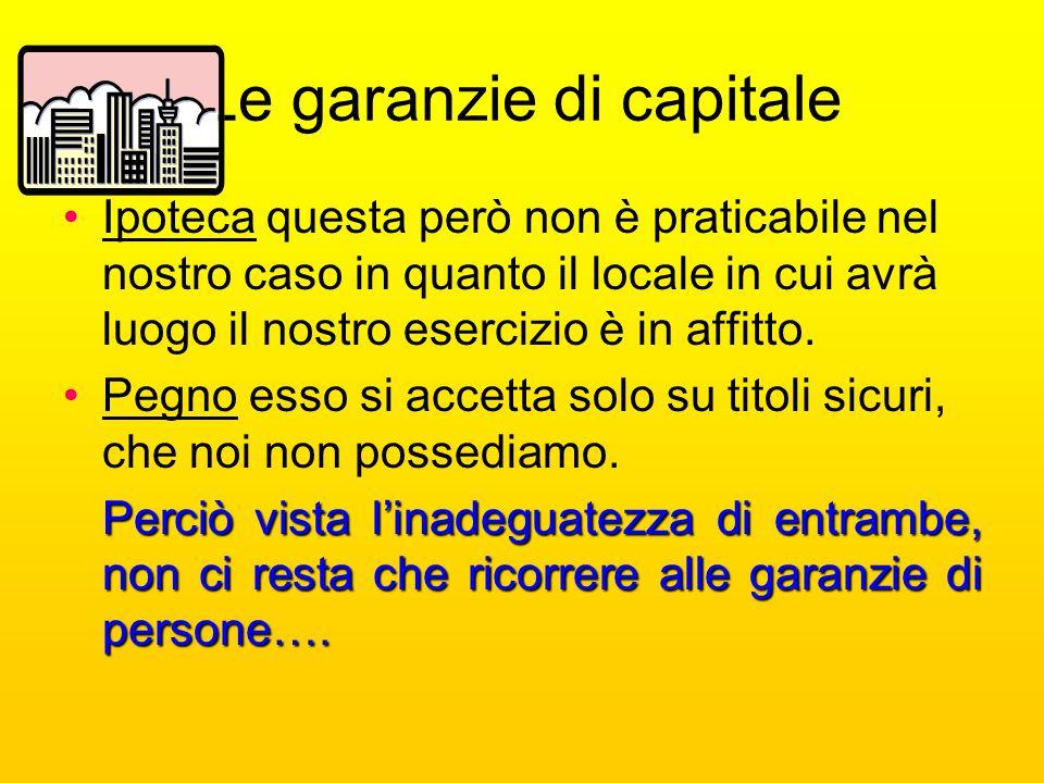 Le garanzie di capitale