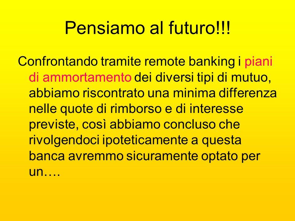 Pensiamo al futuro!!!