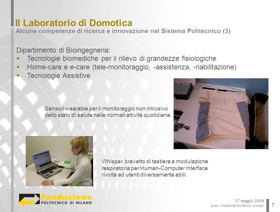 Il Laboratorio di Domotica