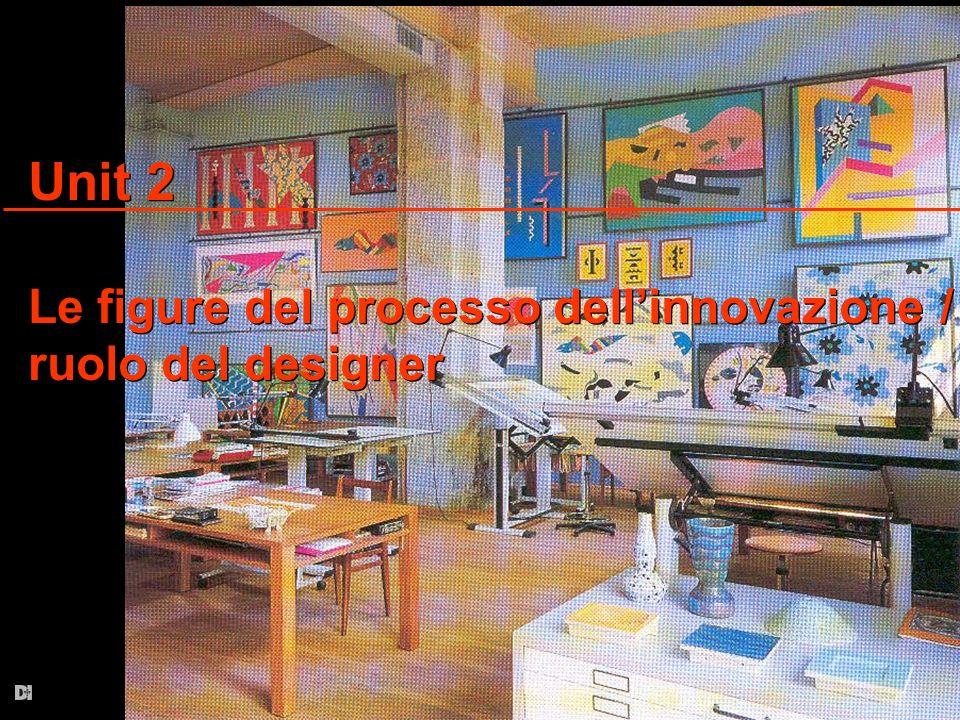 Unit 2 Le figure del processo dell'innovazione / ruolo del designer