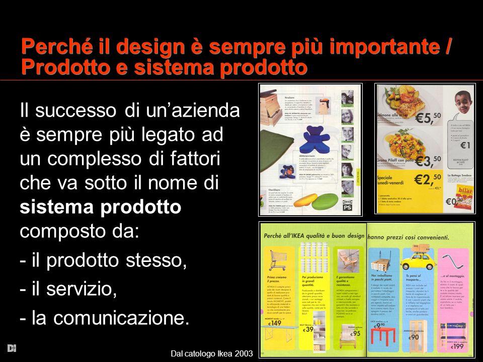 Perché il design è sempre più importante / Prodotto e sistema prodotto
