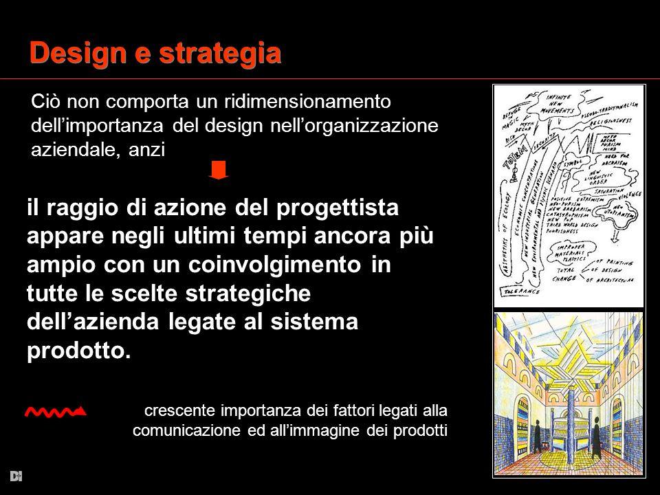 Design e strategia Ciò non comporta un ridimensionamento dell'importanza del design nell'organizzazione aziendale, anzi.