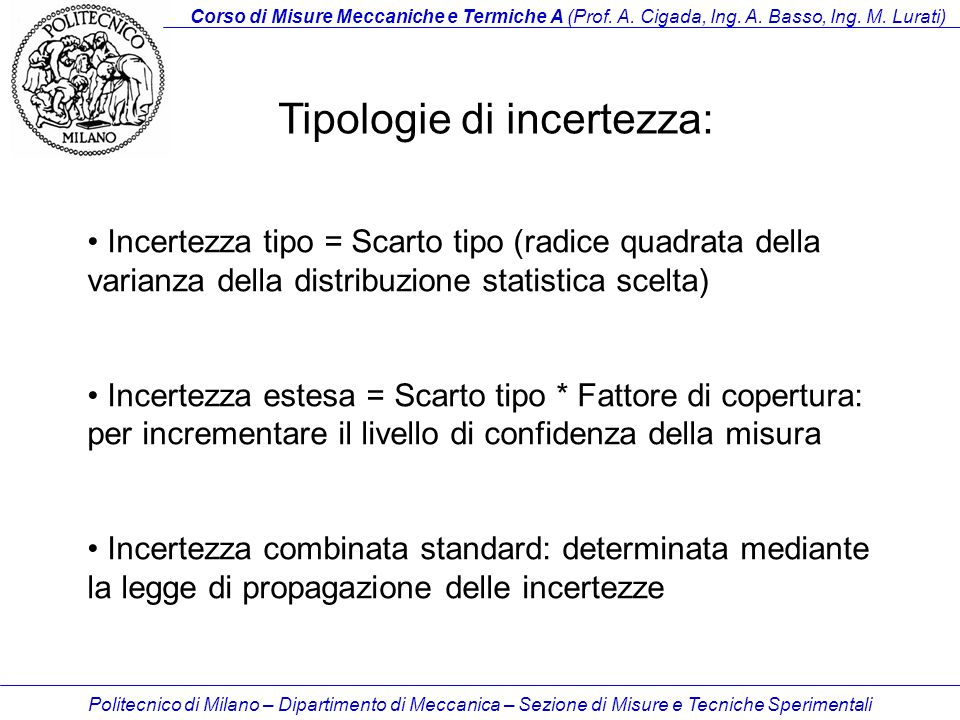 Tipologie di incertezza: