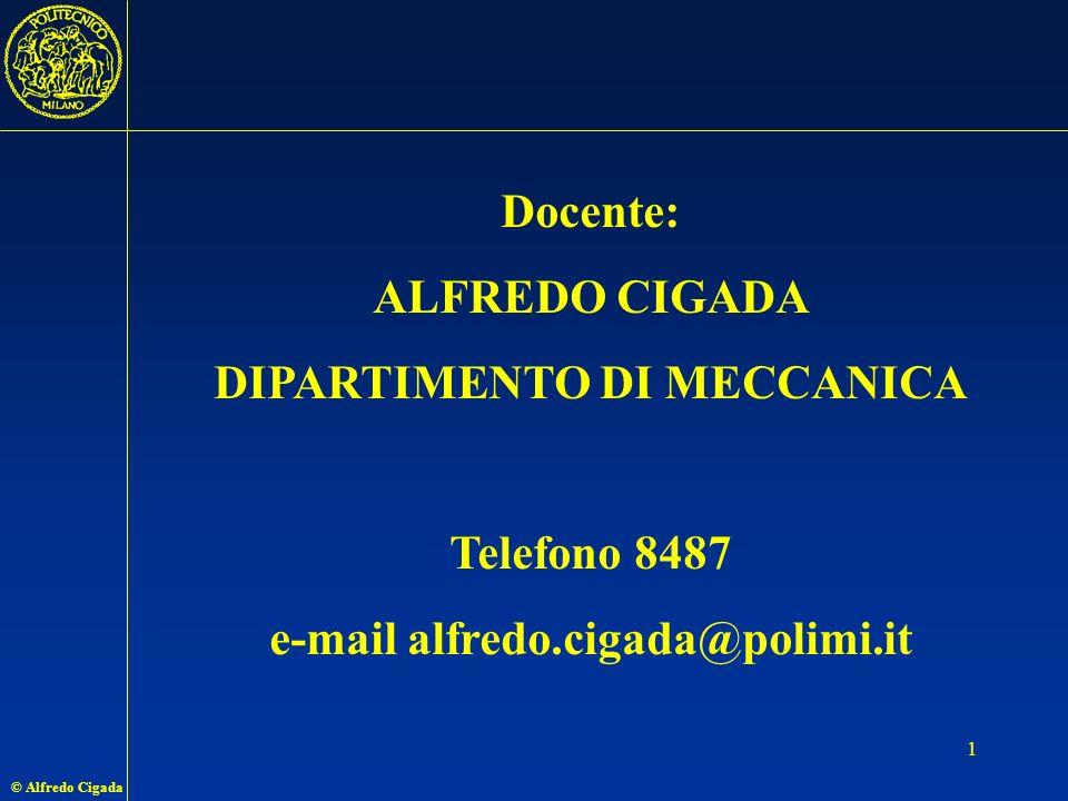 DIPARTIMENTO DI MECCANICA e-mail alfredo.cigada@polimi.it