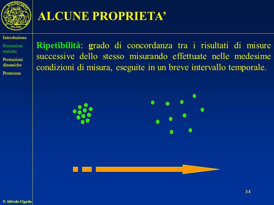 ALCUNE PROPRIETA' Introduzione. Prestazioni statiche. Prestazioni dinamiche. Prontezza.