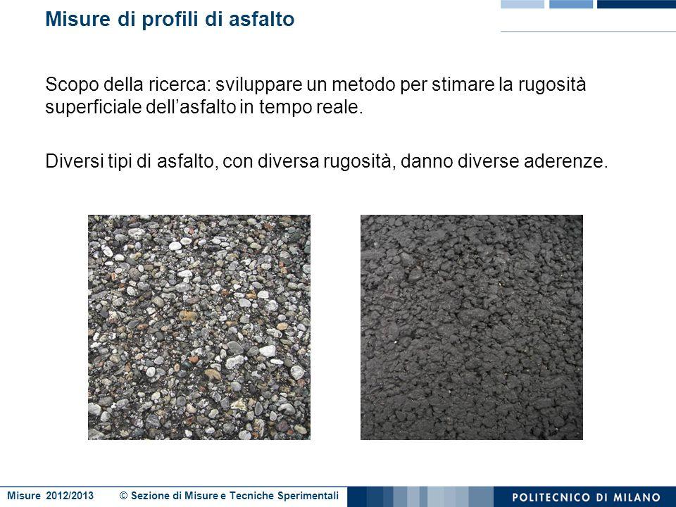Misure di profili di asfalto