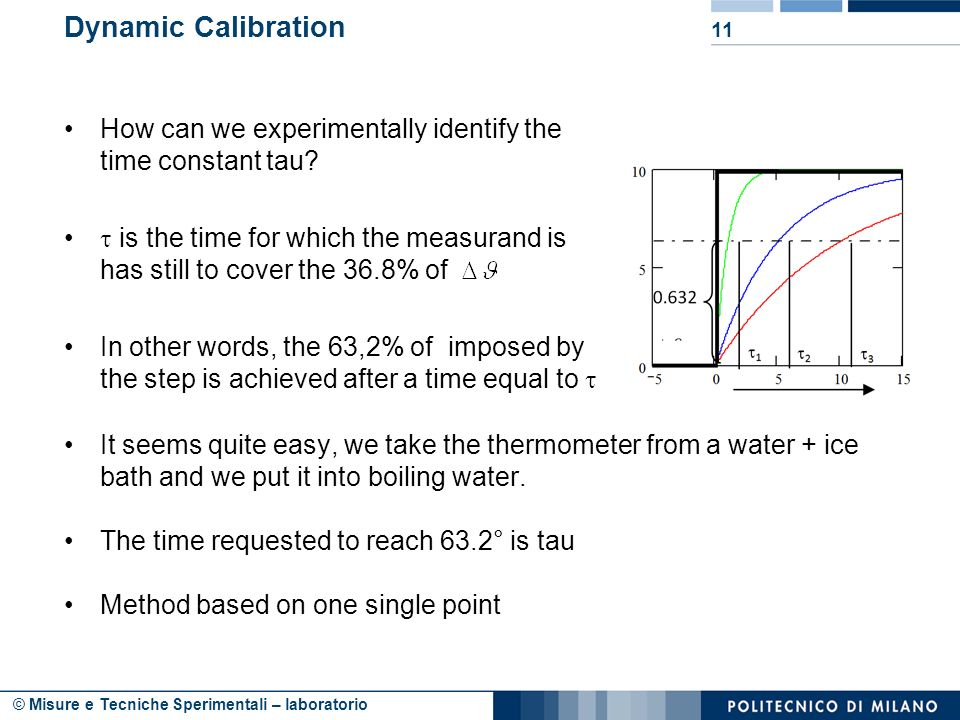 Dynamic Calibration How can we experimentally identify the time constant tau