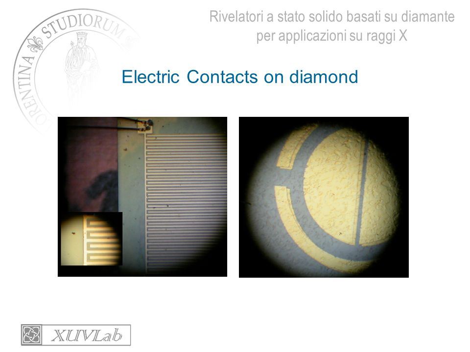 Electric Contacts on diamond