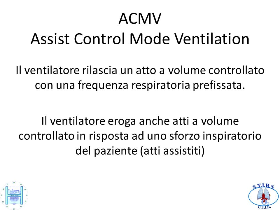 ACMV Assist Control Mode Ventilation