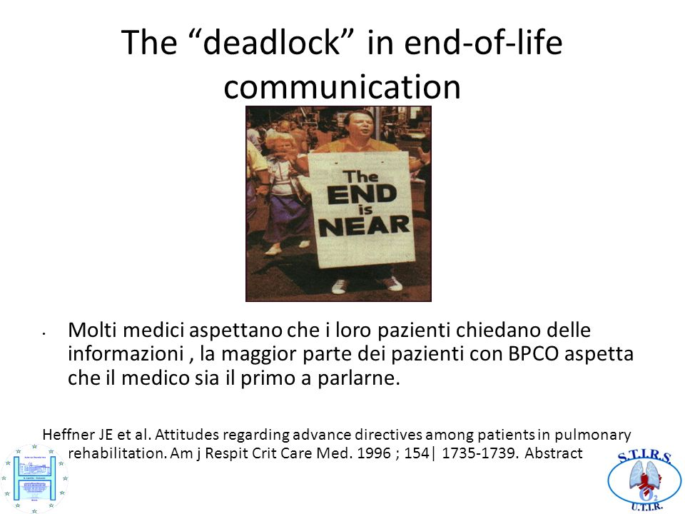 The deadlock in end-of-life communication
