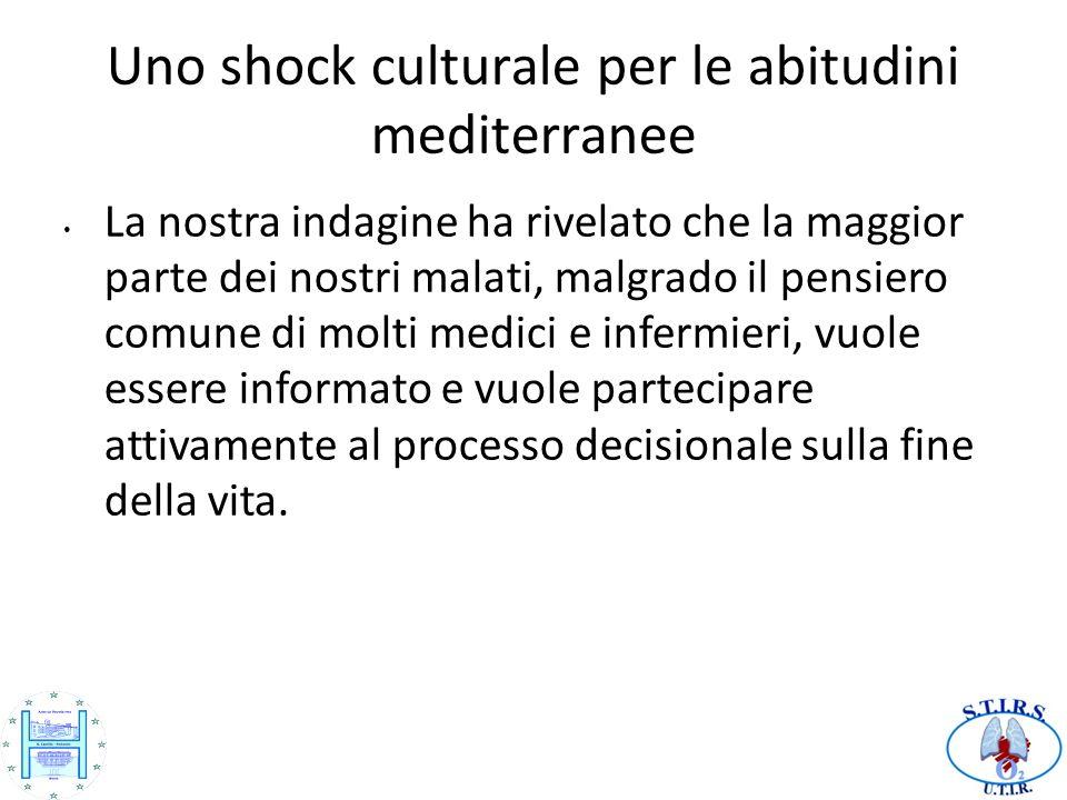 Uno shock culturale per le abitudini mediterranee