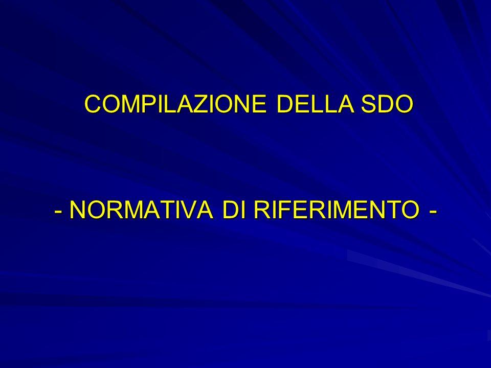 - NORMATIVA DI RIFERIMENTO -