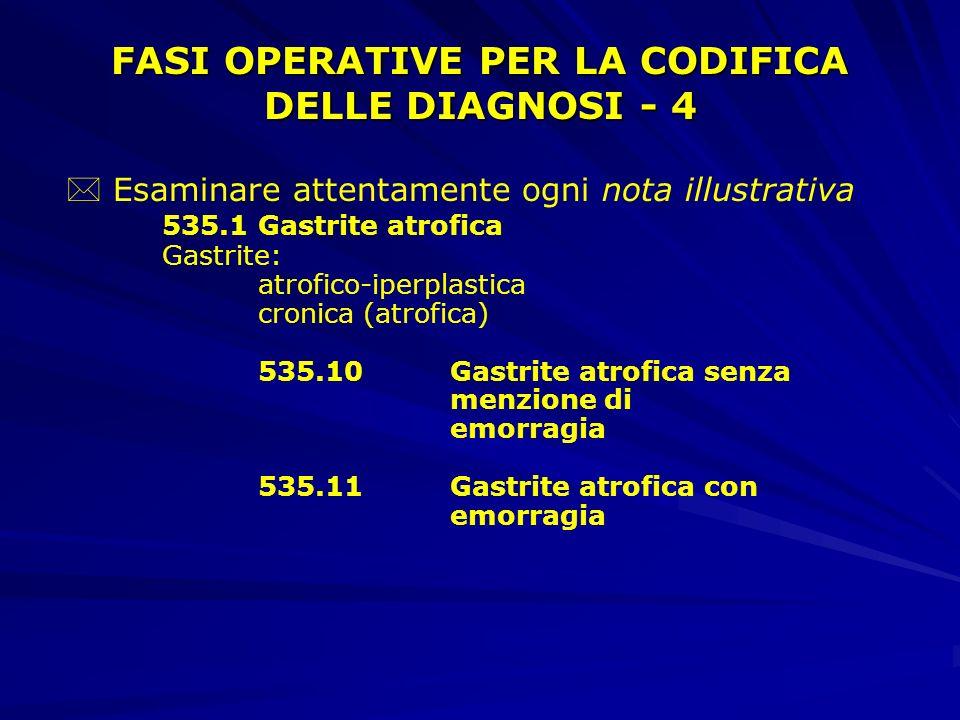 FASI OPERATIVE PER LA CODIFICA DELLE DIAGNOSI - 4