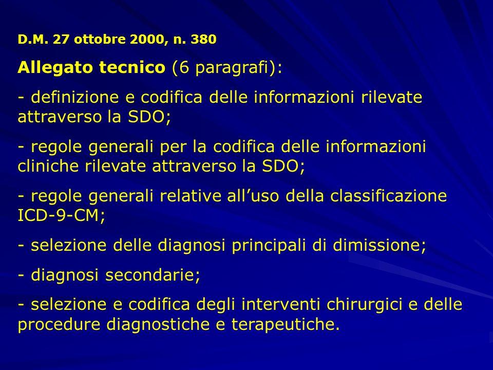 Allegato tecnico (6 paragrafi):