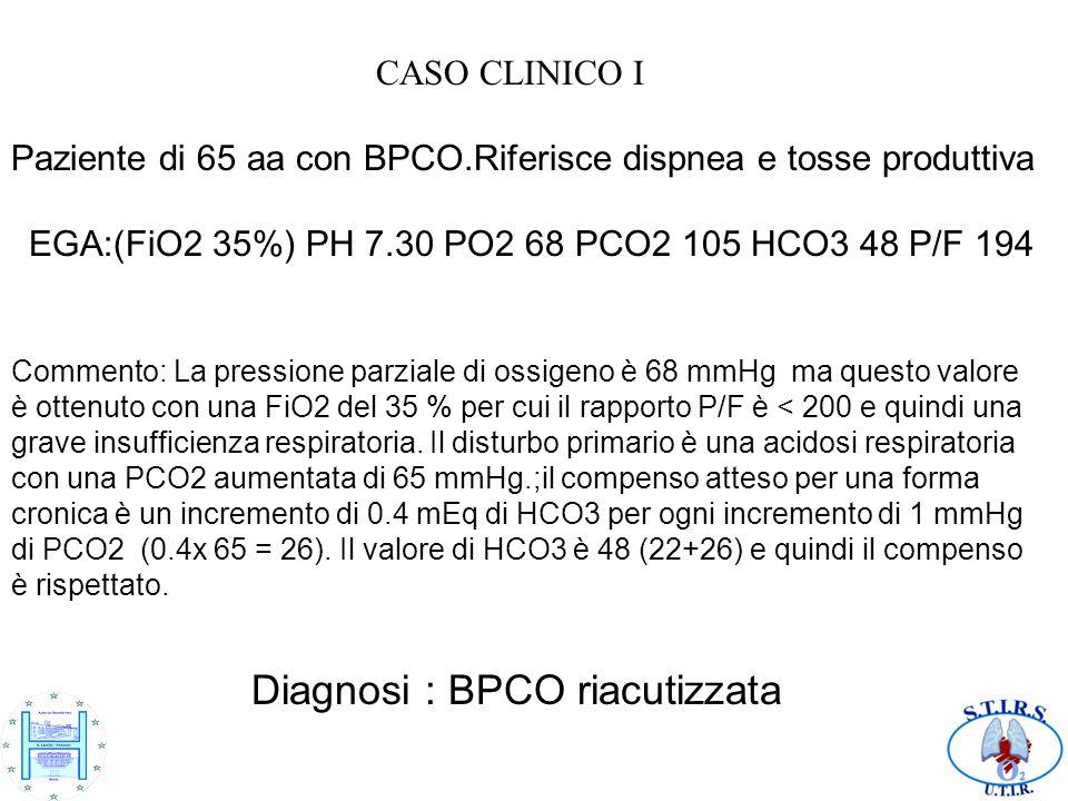 Diagnosi : BPCO riacutizzata