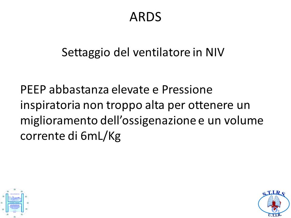 Settaggio del ventilatore in NIV