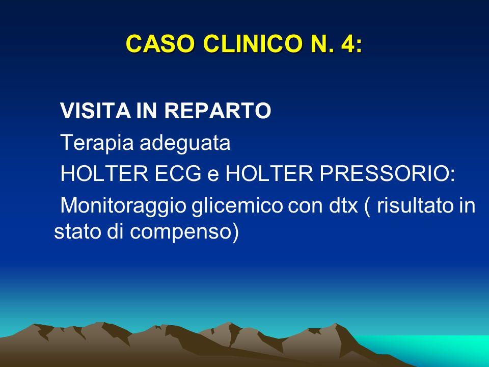 CASO CLINICO N. 4: VISITA IN REPARTO Terapia adeguata