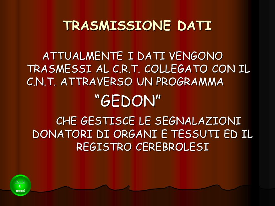 GEDON TRASMISSIONE DATI