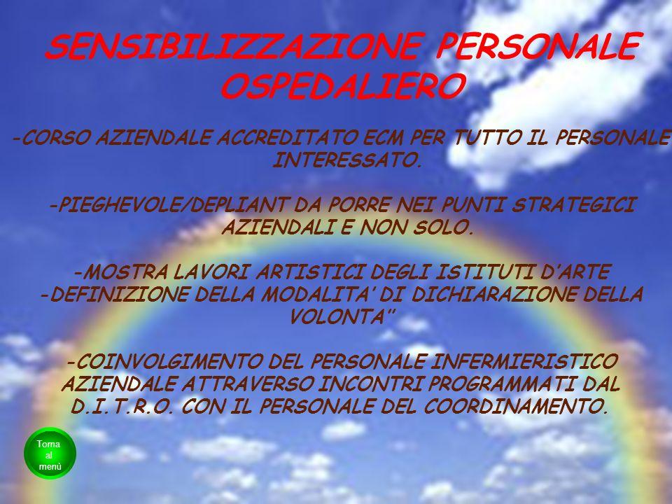 SENSIBILIZZAZIONE PERSONALE OSPEDALIERO