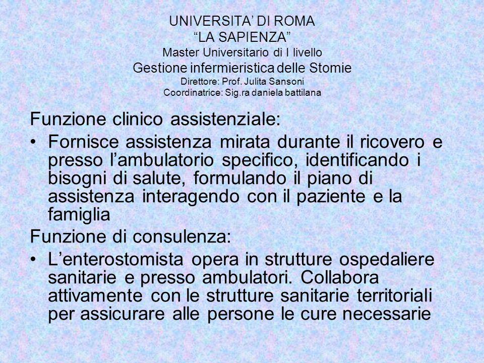 Funzione clinico assistenziale: