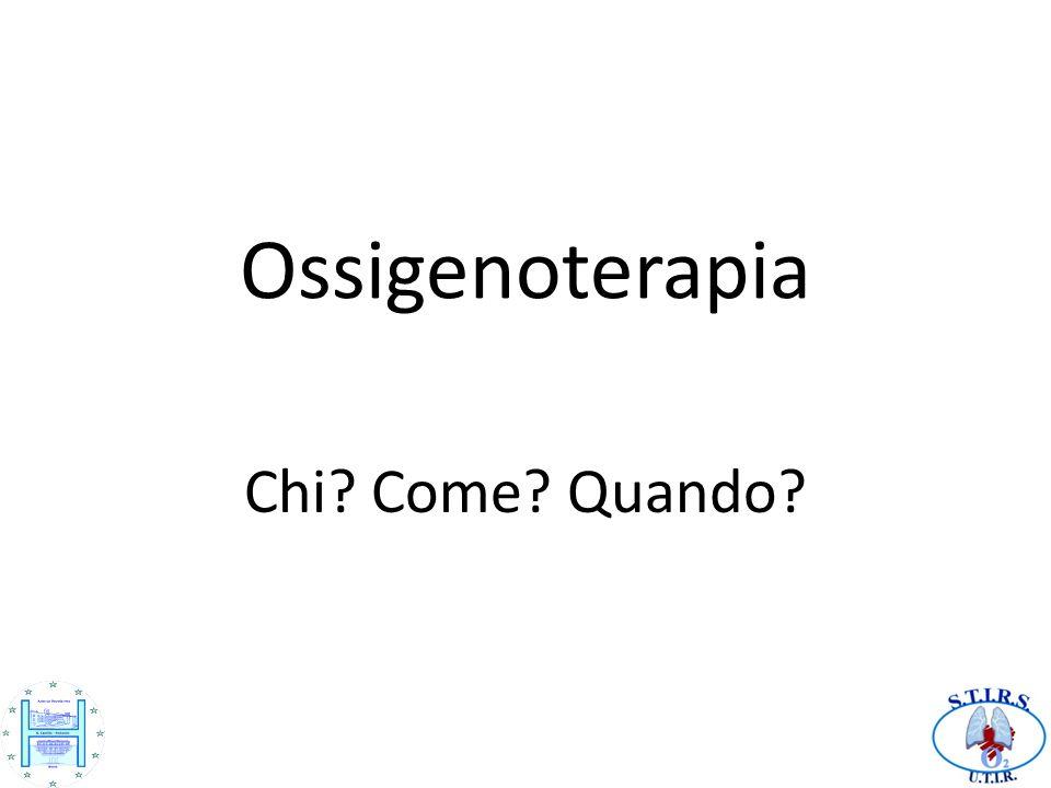 Ossigenoterapia Chi Come Quando