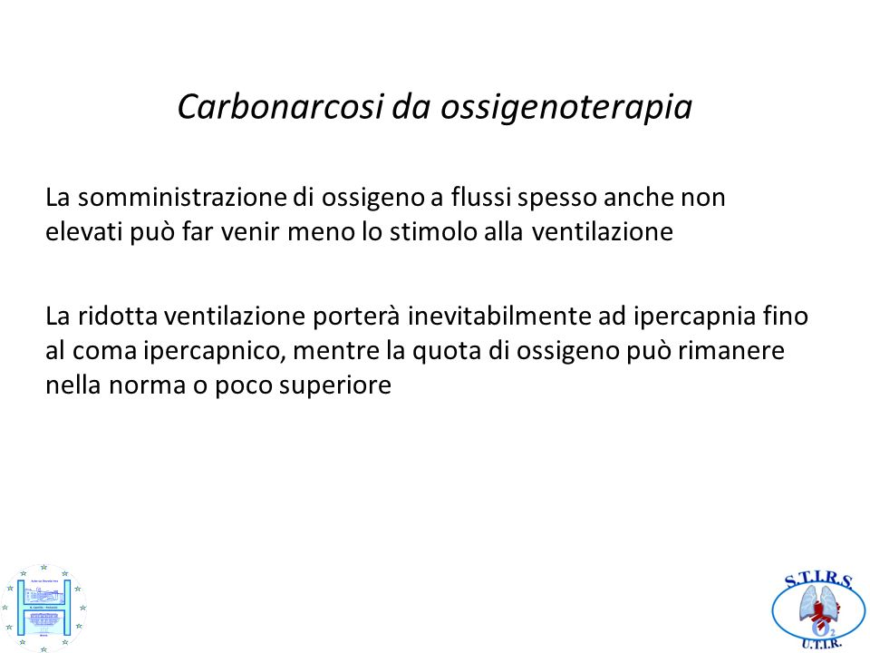 Carbonarcosi da ossigenoterapia
