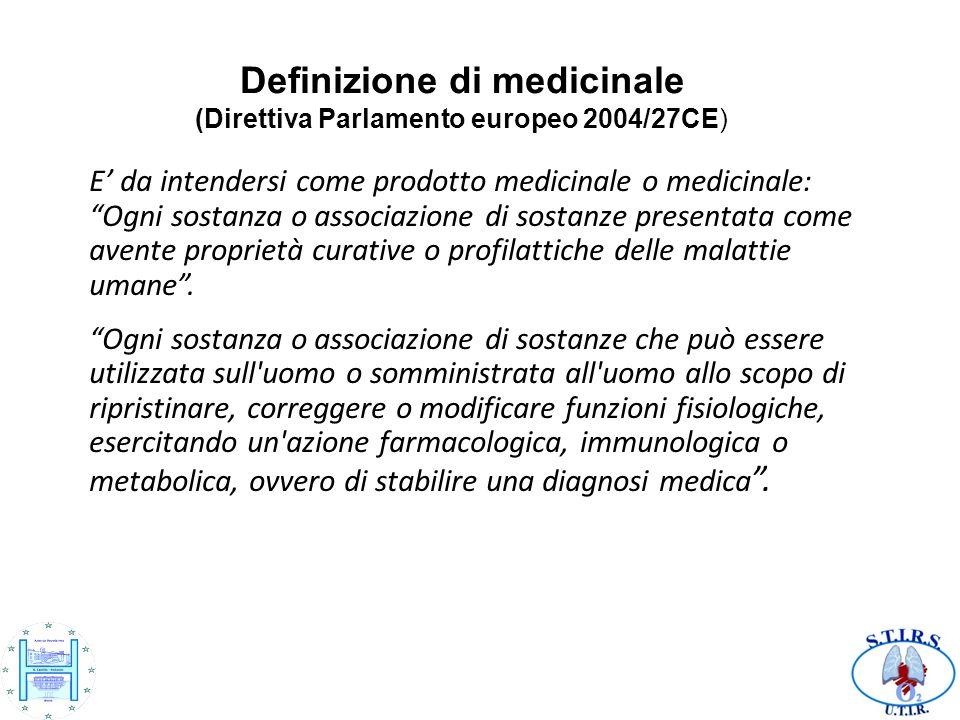 E' da intendersi come prodotto medicinale o medicinale: