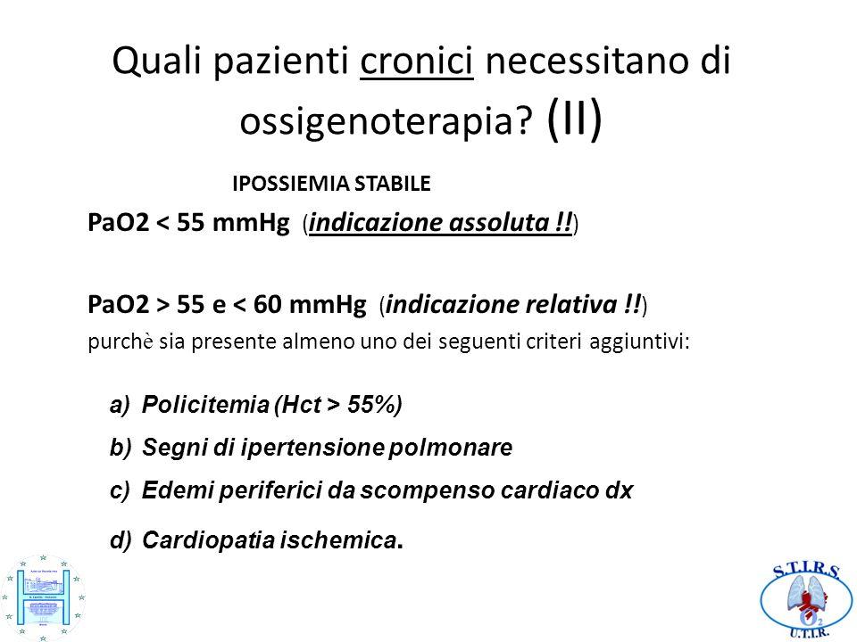 Quali pazienti cronici necessitano di ossigenoterapia (II)