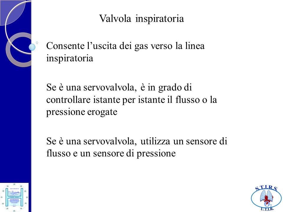 Valvola inspiratoria Consente l'uscita dei gas verso la linea inspiratoria.