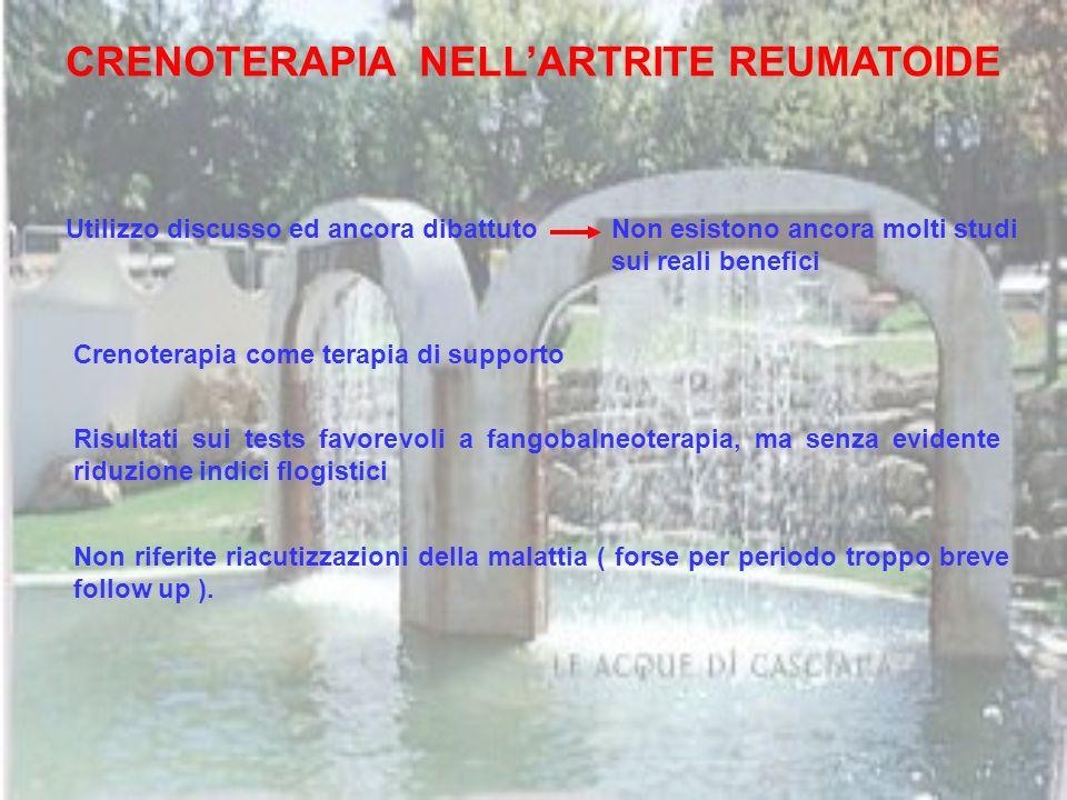 CRENOTERAPIA NELL'ARTRITE REUMATOIDE