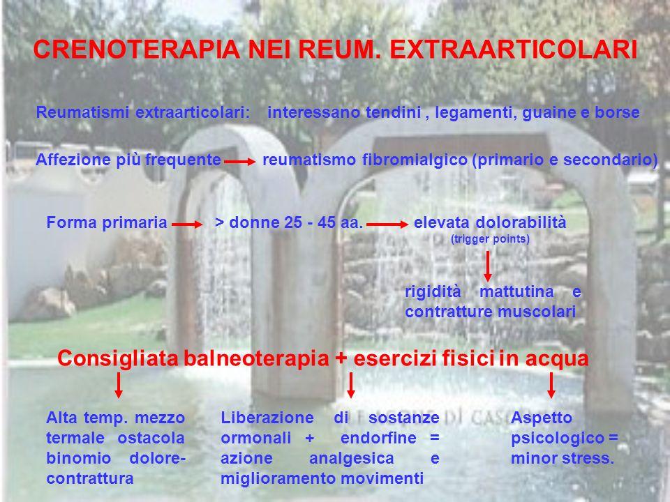 CRENOTERAPIA NEI REUM. EXTRAARTICOLARI