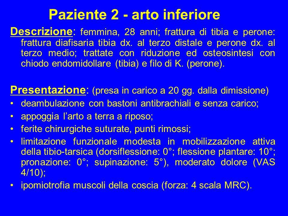 Paziente 2 - arto inferiore