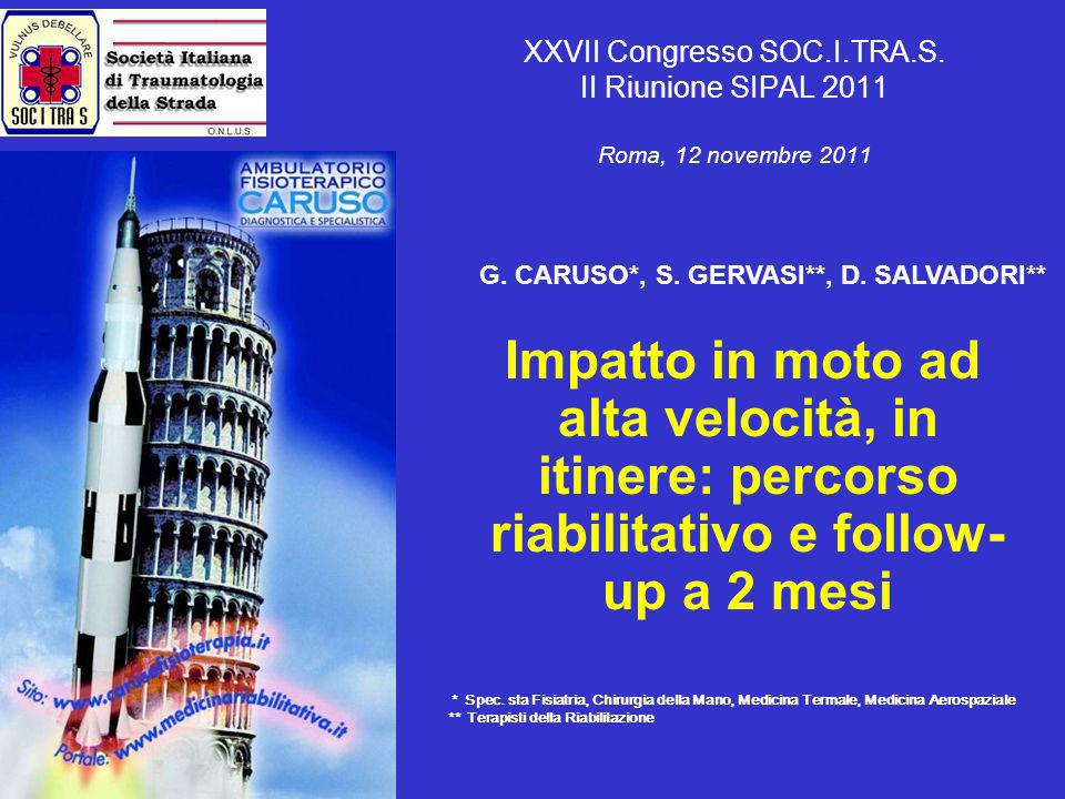 XXVII Congresso SOC. I. TRA. S